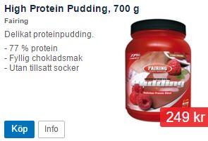 Pudding med hög proteinhalt