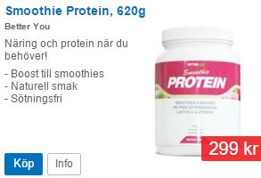 Proteinfull smoothiedryck