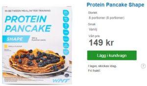 Shape proteinpannkakor