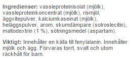 INgredienser till proteinpannkakor