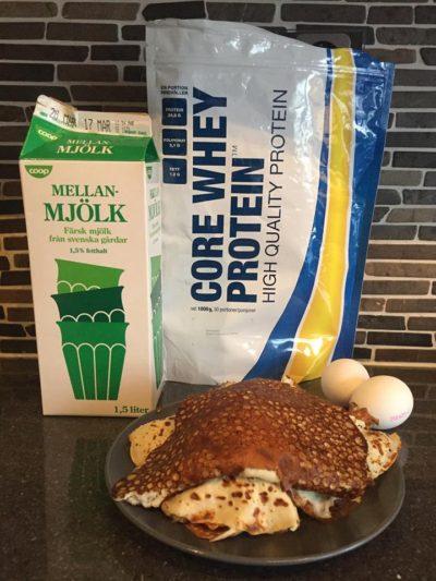 amerikanska pannkakor med proteinpulver